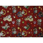 208291 Бумага упаковочная Новогодняя 100*70см 00326 фото