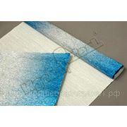 Бумага гофрированная металл-переход 802/2 серебро/голубой фото