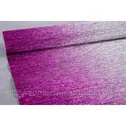Бумага гофрированная металл-переход 802/1 серебро/малина фото
