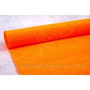 Бумага гофрированная простая 581 оранжевый, 180 гр. фото