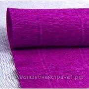Бумага гофрированная простая 593 фиолетовый, 180 гр. фото