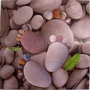 """Картина """"Следы на пляже"""" 3D 50*50см. 37708 фото"""