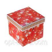 Коробка сборная сердечки 9х9х8 см фото