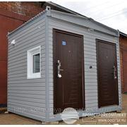 Мобильный туалет («санитарный блок контейнерного типа»), 3,0х2,5х2,8м.