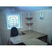 Вагон-дом.Здание офис на 4 человека с кабинетом руководителя 9 метровое на раме фото