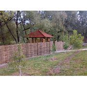 Деревяные ограждения из лозы и орешника (Украинский тын) фото