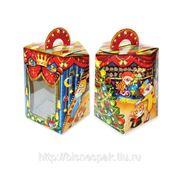 """Коробка для новогодних подарков """"Клоун синий"""", 1000 г фото"""