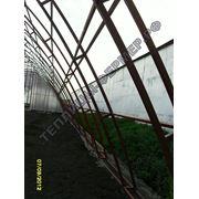 Каркас промышленной фермерской теплицы «Арочная — 8м х 20м» из профильной трубы 30х30 мм фото