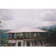 Веранды к дому из бамбука фото