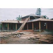 Строительство веранды на даче из бамбука фото