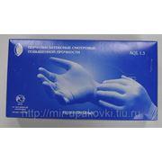 Перчатки смотровые нест сверхпрочные латекс синие High Risk L (25) /10 (250) фото