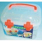 Аптечка пластиковая, контейнер для мелочей 17 х 13,5 х 13,5 см фото