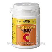 MULTIVITA ASCORBIN 500 mg. Витамин С 50 табл. фото