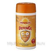 Minisun защита C + D 60 шт.жевательных таблеток фото
