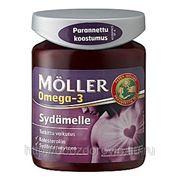 Рыбий жир в капсулах MOLLER Sydamelle 76 капс.(EPA, DHA, ALA) и льняное масло. фото