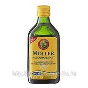 Меллер омега-3 с витаминами А ,Д ,Е(Moller omega-3) жидкий рыбий жир, вкус лимона фото