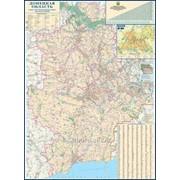 Донецкая область. Карта автомобильных дорог фото