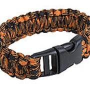 Браслет выживания из паракорда Paracord bracelet with buckle, inferno