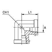 Соединение проходное гайка-гайка PS / угловое 90° фото
