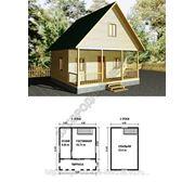 Каркасно-щитовой дом 6х6.Проект 11К фото