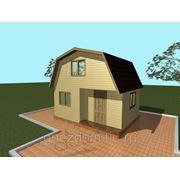 Проект: A3. Дачный дом из бруса 4х5 с террасой фото