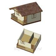 Садовый домик 5х4 с верандой фото