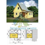 Каркасный дом 6х6 с верандой.Проект 7К фото