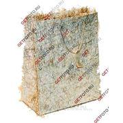 Подарочный пакет 26х32х12, бумажный, МИШУРА, серебряный GF 1318 фото