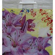 Пакет с петлевой ручкой (40х36) Розовые лилии 10/50