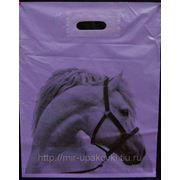 Пакет с вырубной ручкой (40х50)-45 HORSE 15/50 фото