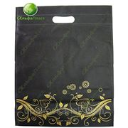 Нетканые пакеты (черный с узором)