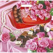 """Пакет """"Шоколадное сердце"""" с прорубной усиленной ручкой фото"""