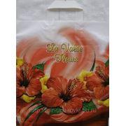 Пакет с петлевой ручкой (38х42)-50 Цветочный вальс ПНД 20/25