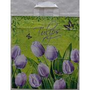 Пакет с петлевой ручкой (40х42) Тюльпаны 20/25 фотография