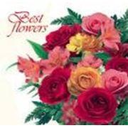 """Пакет """"Best Flowers"""" с прорубной усиленной ручкой фото"""