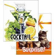 Пакет ПВД 40х47 «Котята, Коктейль» фото