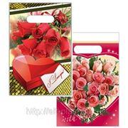 Пакет ПВД 20х30 «Роза, Сердце из роз» фото