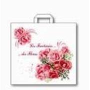 """Пакет """"Фантазия цветов"""" с петлевой ручкой фото"""