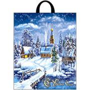 """Пакет """"Снежное царство"""" с петлевой ручкой фото"""