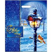 "Пакет ""Зимний вечер"" с прорубная ручка фото"