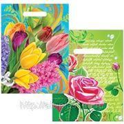Пакет ПВД 30х40 «Цветочная радуга, Роза» фото