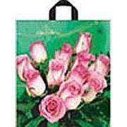 """Пакет """"Розовые розы"""" с петлевой ручкой фото"""