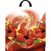 """Пакет """"Цветочный вальс"""" с петлевой ручкой фото"""