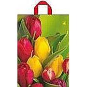 """Пакет """"Тюльпаны"""" с петлевой ручкой фото"""