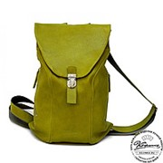 """Кожаный рюкзак """"Беатрис"""" оливково-зеленый фото"""