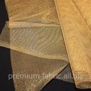 Ткань Фатин золотой 22 фото