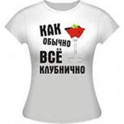 Печать на футболках фото