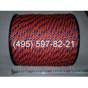 Канат (трос) полипропиленовый, кручёный д12 фото
