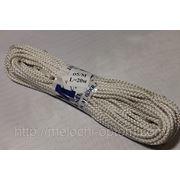 Веревка бельевая 5мм, белая, плетеная с наполнителем, потолочные бельевые веревки фото