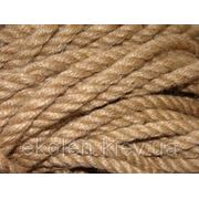 Веревка джутовая для декора деревянного дома диам. 30 мм фото